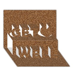 Dark Brown Sand Texture Get Well 3d Greeting Card (7x5)