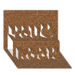 Dark Brown Sand Texture You Rock 3d Greeting Card (7x5)