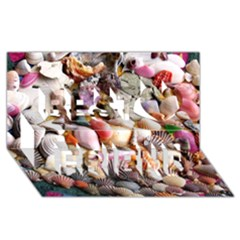 Colorful Sea Shells Best Friends 3d Greeting Card (8x4)