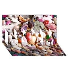 Colorful Sea Shells Mom 3d Greeting Card (8x4)