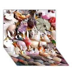COLORFUL SEA SHELLS YOU ARE INVITED 3D Greeting Card (7x5)