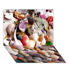 Colorful Sea Shells Circle 3d Greeting Card (7x5)