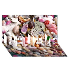 COLORFUL SEA SHELLS BELIEVE 3D Greeting Card (8x4)