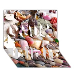 COLORFUL SEA SHELLS You Did It 3D Greeting Card (7x5)