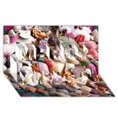 Colorful Sea Shells Merry Xmas 3d Greeting Card (8x4)