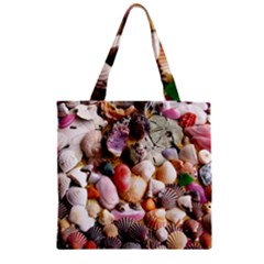 COLORFUL SEA SHELLS Zipper Grocery Tote Bags