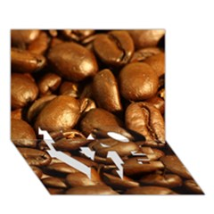 Chocolate Coffee Beans Love Bottom 3d Greeting Card (7x5)