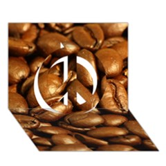CHOCOLATE COFFEE BEANS Peace Sign 3D Greeting Card (7x5)