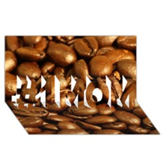 CHOCOLATE COFFEE BEANS #1 MOM 3D Greeting Cards (8x4)