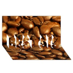 Chocolate Coffee Beans Best Sis 3d Greeting Card (8x4)