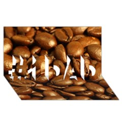 Chocolate Coffee Beans #1 Dad 3d Greeting Card (8x4)