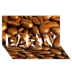 CHOCOLATE COFFEE BEANS PARTY 3D Greeting Card (8x4)