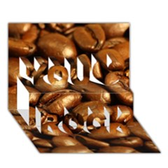 Chocolate Coffee Beans You Rock 3d Greeting Card (7x5)