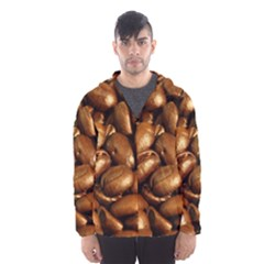 CHOCOLATE COFFEE BEANS Hooded Wind Breaker (Men)