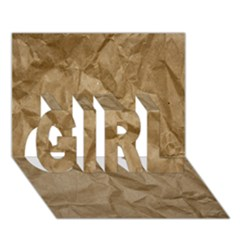 Brown Paper Girl 3d Greeting Card (7x5)