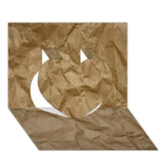 Brown Paper Heart 3d Greeting Card (7x5)