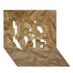 Brown Paper Love 3d Greeting Card (7x5)