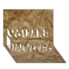 BROWN PAPER YOU ARE INVITED 3D Greeting Card (7x5)