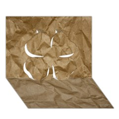 Brown Paper Clover 3d Greeting Card (7x5)