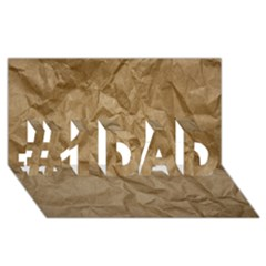 BROWN PAPER #1 DAD 3D Greeting Card (8x4)