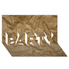 BROWN PAPER PARTY 3D Greeting Card (8x4)
