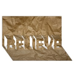 Brown Paper Believe 3d Greeting Card (8x4)