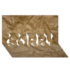 Brown Paper Sorry 3d Greeting Card (8x4)