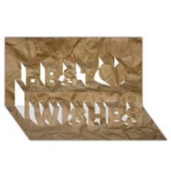 BROWN PAPER Best Wish 3D Greeting Card (8x4)