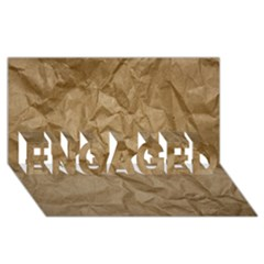 Brown Paper Engaged 3d Greeting Card (8x4)