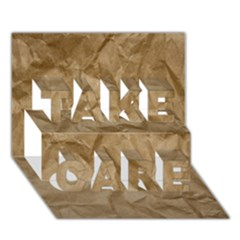 BROWN PAPER TAKE CARE 3D Greeting Card (7x5)