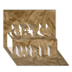 BROWN PAPER Get Well 3D Greeting Card (7x5)