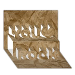 Brown Paper You Rock 3d Greeting Card (7x5)