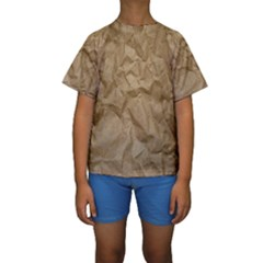 Brown Paper Kid s Short Sleeve Swimwear