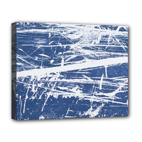 BLUE AND WHITE ART Deluxe Canvas 20  x 16