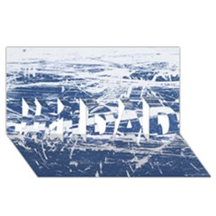 Blue And White Art #1 Dad 3d Greeting Card (8x4)