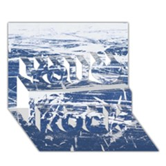 BLUE AND WHITE ART You Rock 3D Greeting Card (7x5)