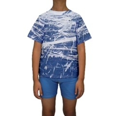 BLUE AND WHITE ART Kid s Short Sleeve Swimwear