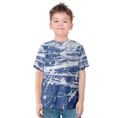 BLUE AND WHITE ART Kid s Cotton Tee
