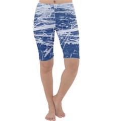 BLUE AND WHITE ART Cropped Leggings
