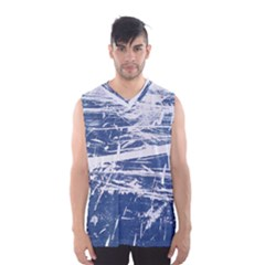 BLUE AND WHITE ART Men s Basketball Tank Top
