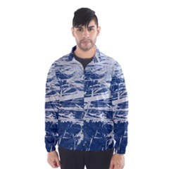 BLUE AND WHITE ART Wind Breaker (Men)
