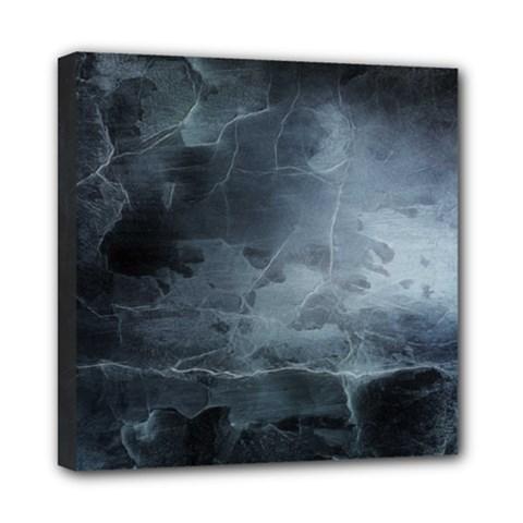 BLACK SPLATTER Mini Canvas 8  x 8