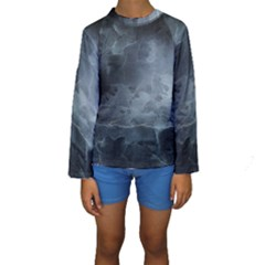 BLACK SPLATTER Kid s Long Sleeve Swimwear