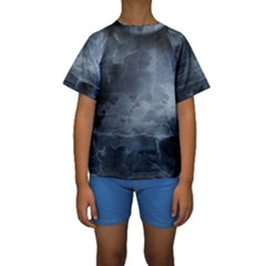 BLACK SPLATTER Kid s Short Sleeve Swimwear