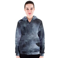 BLACK SPLATTER Women s Zipper Hoodies