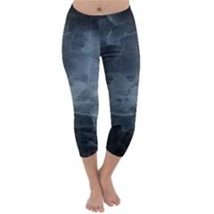 Black Splatter Capri Winter Leggings