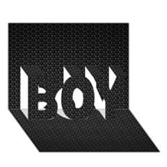 Black Honeycomb Boy 3d Greeting Card (7x5)