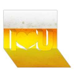 BEER I Love You 3D Greeting Card (7x5)
