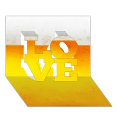 Beer Love 3d Greeting Card (7x5)