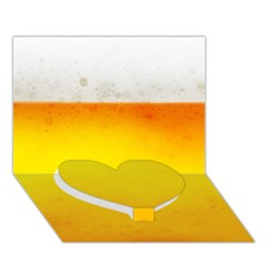 BEER Heart Bottom 3D Greeting Card (7x5)